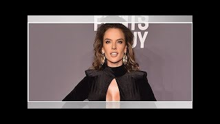 Alessandra Ambrosio Flaunts Cleavage In Black Cutout Dress On Instagram