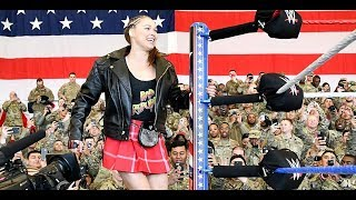 WWE Tribute To The Troops - Ronda Rousey & Natalya vs Nia & Tamina vs The Riott Squad | Part 1
