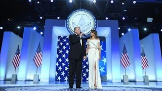 Trump Addresses Crowd at Inaugural Ball