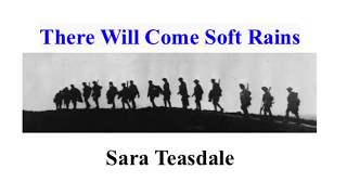 """""""There Will Come Soft Rains"""" Sara Teasdale poem in Ray Bradbury's The Martian Chronicles"""