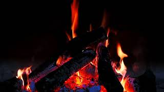 Burning Fireplace Sounds 1 hour for rest and daytime sleep. Noise Crackling Coals