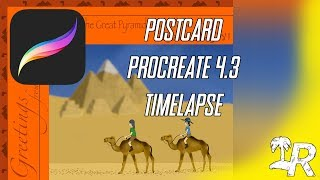 Creating a Postcard in Procreate 4.3 (Time Lapse)