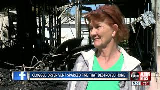 Clogged dryer vent blamed for Clearwater home fire