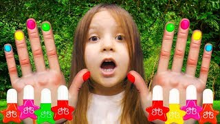 Learn Colors with Nail Art designs Colours to Kids Baby songs for Children, Baby Play