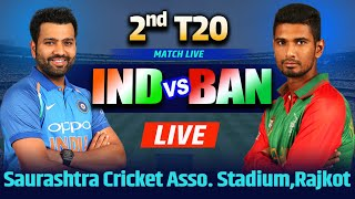 Live: INDIA Vs BANGLADESH 2nd T20 Live Scores And Commentary | Match Live