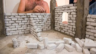 BRICKLAYING - HOW TO BUILD HOUSE 1st FLOOR