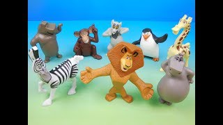 2008 MADAGASCAR ESCAPE 2 AFRICA SET OF 8 McDONALDS HAPPY MEAL KIDS MOVIE TOYS VIDEO REVIEW