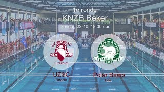 Return 1e ronde KNZB-Beker 2018: UZSC H1 - Polar Bears H1