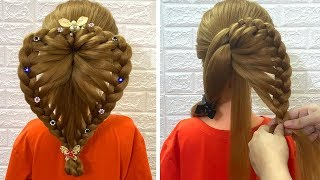 Simple & Quick Hairstyle Tutorials for Festival | | Transformation Hairstyle | HOT Trendy Hairstyle