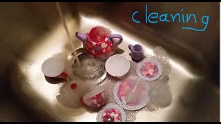 Tea Cake Set and Cleaning