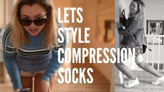 compression sock haul + try on
