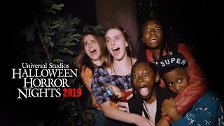Cast from Us and their families came face to face with their maze at Halloween Horror Nights