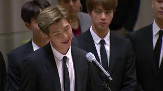 K-Pop Group BTS (방탄소년단) Speak at UN for UNICEF's 'Generation Unlimited' Launch | Youth 2030