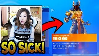 Pokimane Reacts To *FULL* Battle Pass ALL ITEMS! (SHE BUYS TIER 100!) Fortnite Season 7 Battle Pass!