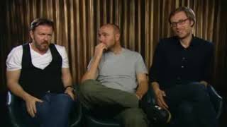 Ricky Gervais, Stephen Merchant and Karl Pilkington An Idiot Abroad 2 interview1
