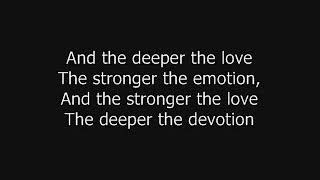 Whitesnake - The Deeper The Love (Lyrics)