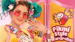 Harajuku Girl Style Challenge with Pikmi Pops! Wearable Plush Street Style!