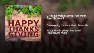 Grieg Solveig's Song from Peer Gynt Suite n 2