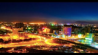 Addis Ababa and Africa Union View at Night