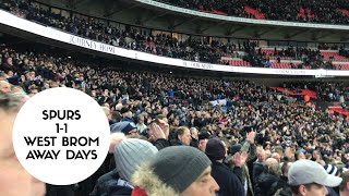 Tottenham 1-1 West Brom | Away Days | Scenes in the Away End at Full Time!!💙