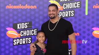 Roman Reigns and JoJo Anoa'i 2018 Kids' Choice Sports Awards Orange Carpet