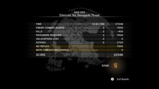METAL GEAR SOLID V: Ground Zeroes Eliminate the Renegade Threat S Rank