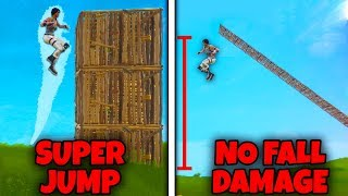 How To SUPER JUMP + Take NO FALL DAMAGE in Fortnite Battle Royale!