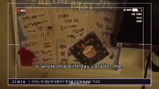 [180629] BTS (방탄소년단) JIMIN SHOW HIS FAVORITE BIRTHDAY LETTERS AND HIS FAV TOY