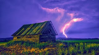 Noise thunderstorm. Rainfall. Soothing rain sounds 4 hours for rest, relaxation and deep sleep