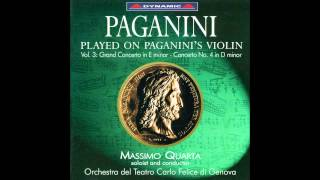 Played on Paganini's Violin-Paganini Violin Concerto No. 4,mvt.1