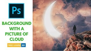 Make a background with a picture of cloud Photoshop Tutorial