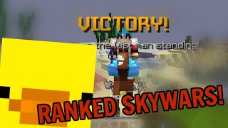 Tryharding Ranked Skywars at 800 rating w/commentary! (Hypixel Skywars)