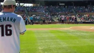 Jerrod Niemann 1st pitch at Diamondbacks