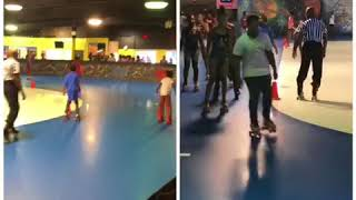 CAMP KIDS AT THE ROLL BOUNCE BACK TO SCHOOL EDITION AT GREENBRIER SKATING RINK!!!