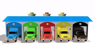 Colors for Children to Learn with Garbage Trucks | Teaching & Learning Basic Colours Video for Kids