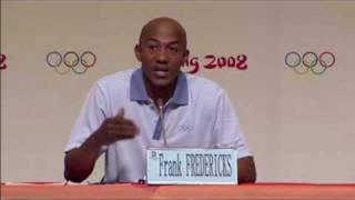 Fredericks speaks in the war against drugs - Beijing 2008 Summer Olympic Games
