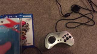 Playing Street Fighter V using the Sega Saturn PS2 Pad via Brook Super Controller Converter