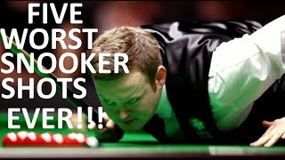 TOP 5 WORST SHOTS IN SNOOKER HISTORY
