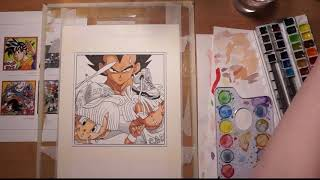 Long Version Timelapse Vegebul Redraw of Dragon Ball Z Manga Cover No. 37 by Toriyama