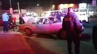 Accidente vehicular en el puente de El Alto