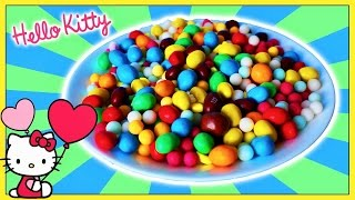 A Lot of candy M&M's Hide & Sick Find the Toys Hello Kitty & YooHoo in Sweets