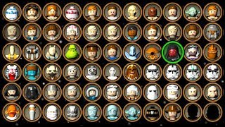 LEGO Star Wars The Complete Saga - ALL Characters Unlocked!
