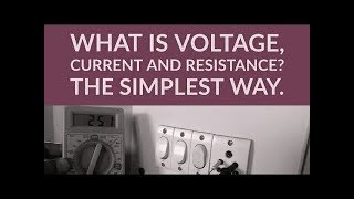 What is Voltage, Current and Resistance? The Simplest way (Hindi)