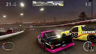 NASCAR Heat 4 (GLITCH) Racing With The Pace Car in 100% Races @Eldora (NO COMMENTARY)