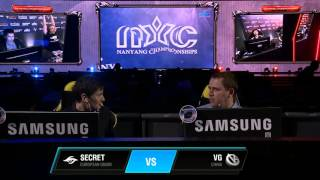 Secret vs VG, NYC Finals, WB Final, Game 1